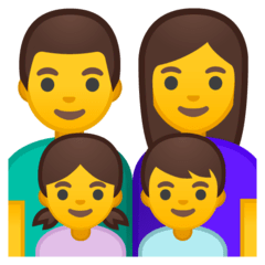 Family: Man, Woman, Girl, Boy Emoji on Google Android and Chromebooks