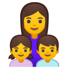 Family: Woman, Girl, Boy Emoji on Google Android and Chromebooks
