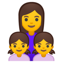Family: Woman, Girl, Girl Emoji on Google Android and Chromebooks