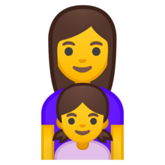 Family: Woman, Girl Emoji on Google Android and Chromebooks