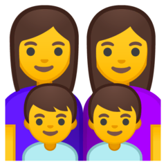Family: Woman, Woman, Boy, Boy Emoji on Google Android and Chromebooks