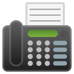Fax Machine Emoji on Google Android and Chromebooks