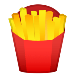 French Fries Emoji on Google Android and Chromebooks