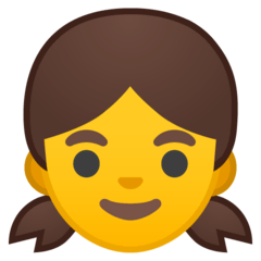 Fille Émoji Google Android, Chromebook