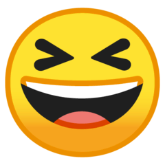 Grinning Squinting Face Emoji on Google Android and Chromebooks