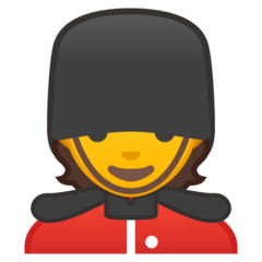 Guardia Emoji Google Android, Chromebook