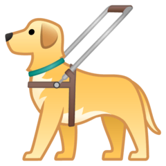 Guide Dog Emoji on Google Android and Chromebooks
