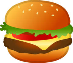 Hamburger Emoji Google Android, Chromebook
