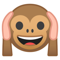 Hear-no-evil Monkey Emoji on Google Android and Chromebooks