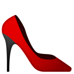 High-heeled Shoe Emoji on Google Android and Chromebooks