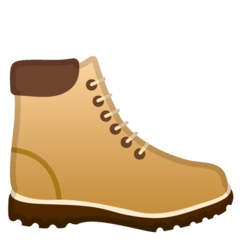 Hiking Boot Emoji on Google Android and Chromebooks
