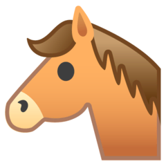 Horse Face Emoji on Google Android and Chromebooks