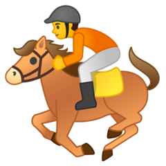 Horse Racing Emoji on Google Android and Chromebooks