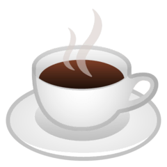 Hot Beverage Emoji on Google Android and Chromebooks