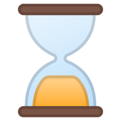 Hourglass Done Emoji on Google Android and Chromebooks