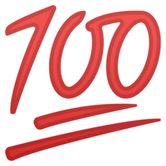 Hundred Points Emoji on Google Android and Chromebooks