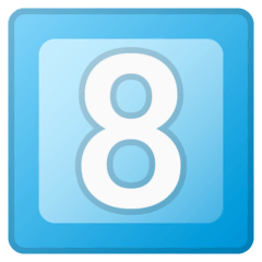 Touche huit Émoji Google Android, Chromebook