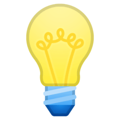 Light Bulb Emoji on Google Android and Chromebooks