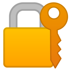 Cadeado fechado com chave Emoji Google Android, Chromebook
