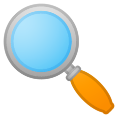 Magnifying Glass Tilted Left Emoji on Google Android and Chromebooks