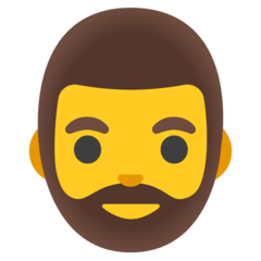 Bärtige Person Emoji Google Android, Chromebook