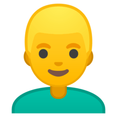 Homme aux cheveux blonds Émoji Google Android, Chromebook