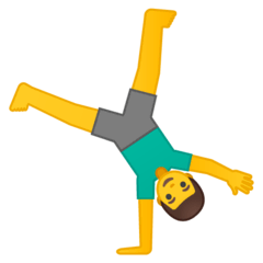 Man Cartwheeling Emoji on Google Android and Chromebooks