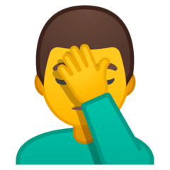 Man Facepalming Emoji on Google Android and Chromebooks