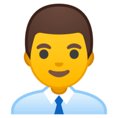 Man Office Worker Emoji on Google Android and Chromebooks