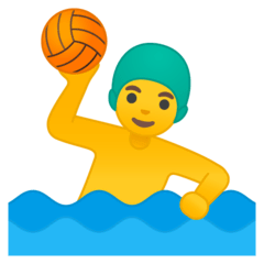 Man Playing Water Polo Emoji on Google Android and Chromebooks