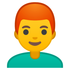 Man: Red Hair Emoji on Google Android and Chromebooks