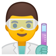 Man Scientist Emoji on Google Android and Chromebooks