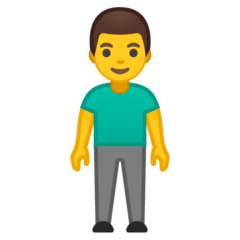 Man Standing Emoji on Google Android and Chromebooks