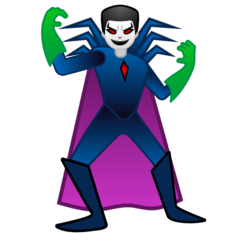 Man Supervillain Emoji on Google Android and Chromebooks