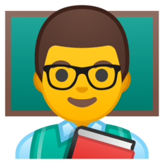 Enseignant Émoji Google Android, Chromebook