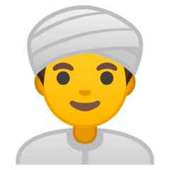Homem com turbante Emoji Google Android, Chromebook