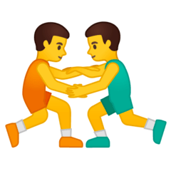 Men Wrestling Emoji on Google Android and Chromebooks
