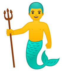 Merman Emoji on Google Android and Chromebooks