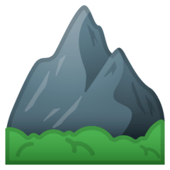 Mountain Emoji on Google Android and Chromebooks