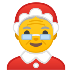 Mrs. Claus Emoji on Google Android and Chromebooks