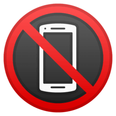 No Mobile Phones Emoji on Google Android and Chromebooks