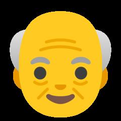 Homme âgé Émoji Google Android, Chromebook