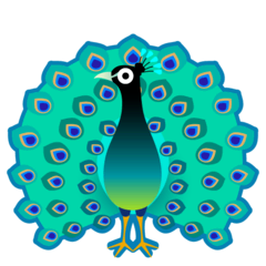 Peacock Emoji on Google Android and Chromebooks