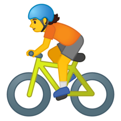 Person Biking Emoji on Google Android and Chromebooks