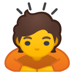 Person Bowing Emoji on Google Android and Chromebooks