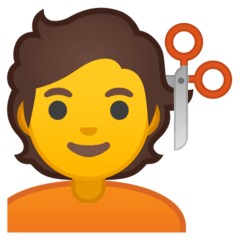 Person Getting Haircut Emoji on Google Android and Chromebooks