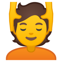 Person Getting Massage Emoji on Google Android and Chromebooks