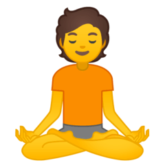 Person In Lotus Position Emoji on Google Android and Chromebooks