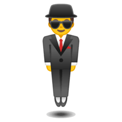 Person In Suit Levitating Emoji on Google Android and Chromebooks