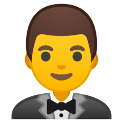Homme en smoking Émoji Google Android, Chromebook